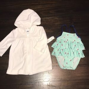 3-6 month swimsuit and cover up bundle